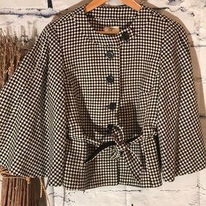 Ann Taylor Loft Checkered Jacket  Bell Sleeves